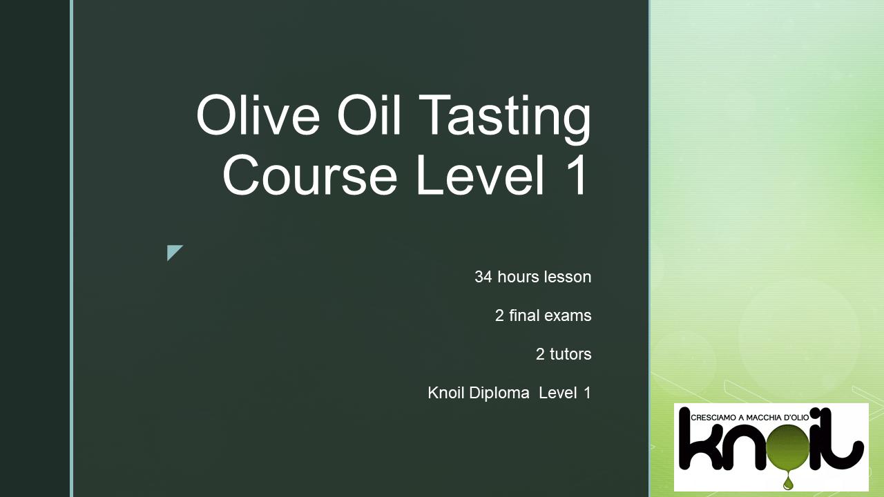 Olive Oil Tasting Course Level 1_